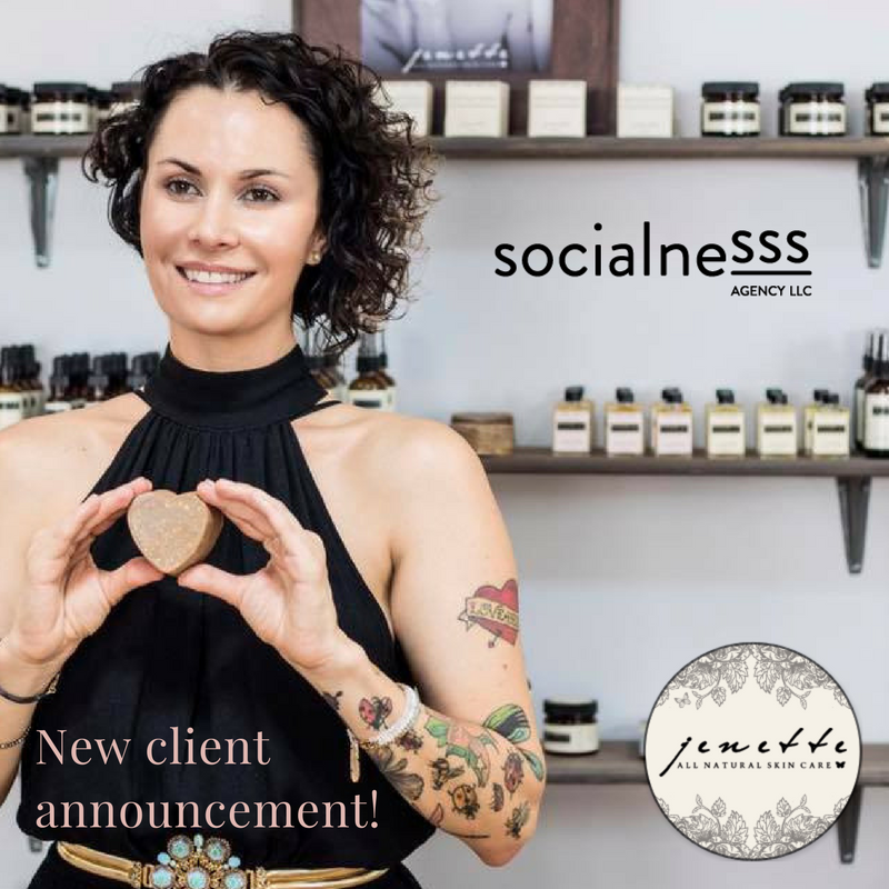 New Client Announcement: Jenette All Natural Skincare